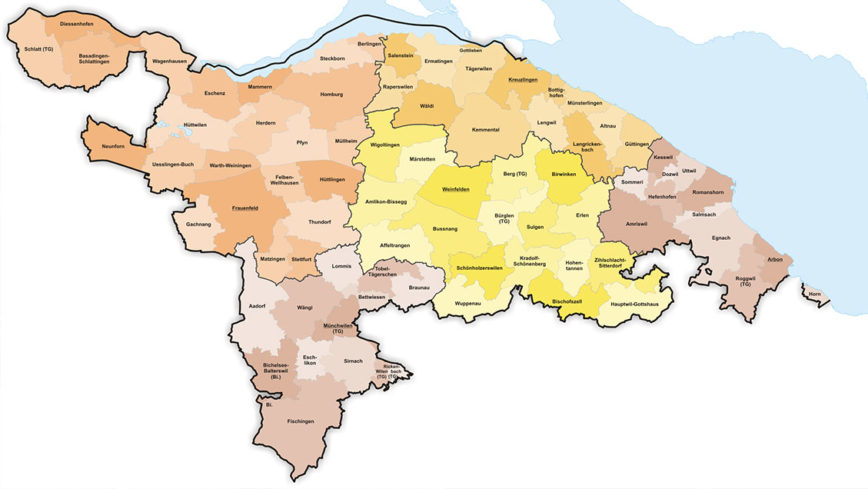 Gemeinden Kanton Thurgau